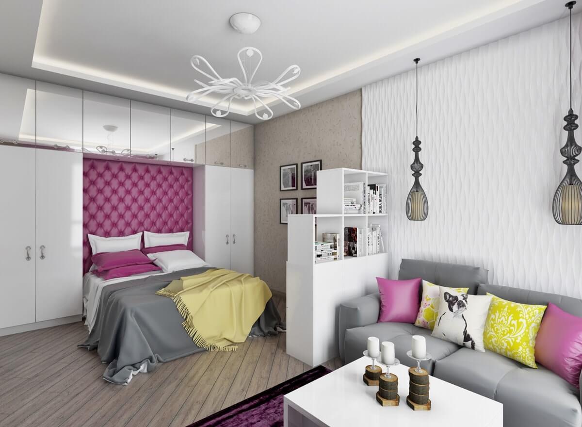 Гостиная совмещенная со спальной