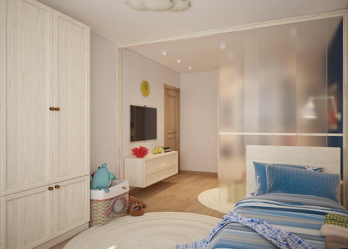 Гостиная с детской комнатой