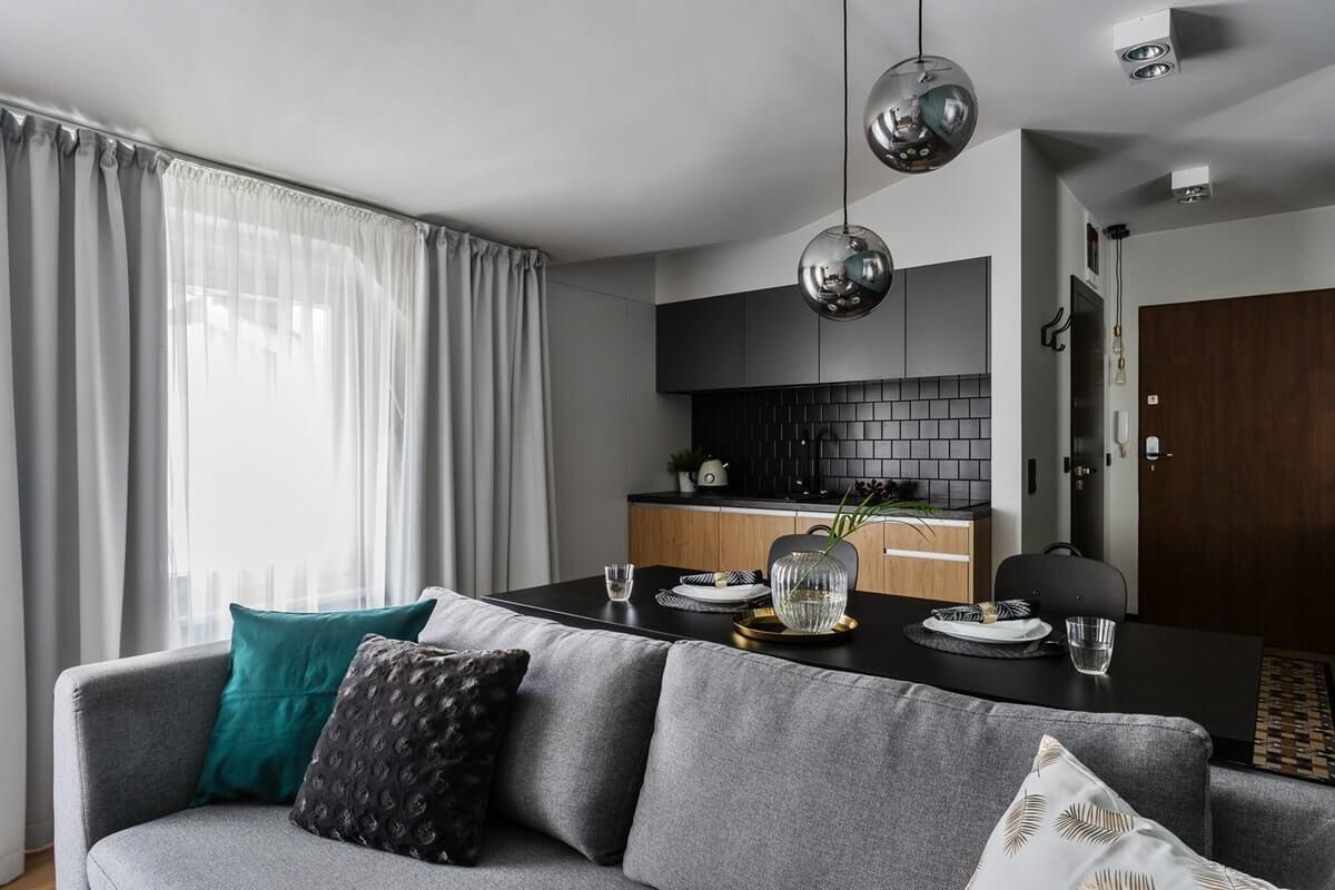 Дизайн интерьера однокомнатной квартиры - фото 3