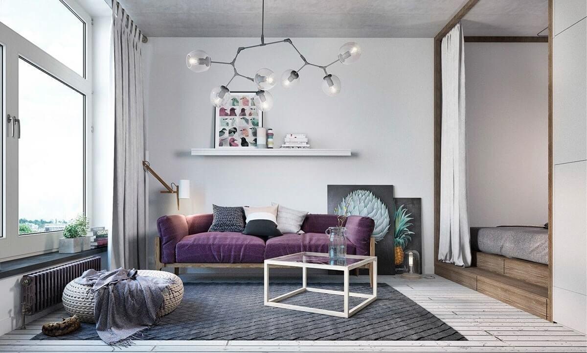 Дизайн интерьера однокомнатной квартиры - фото 6
