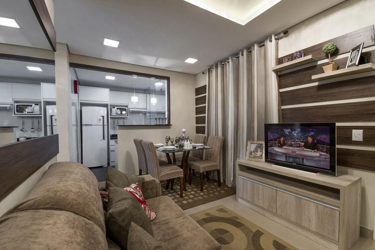 Дизайн интерьера однокомнатной квартиры - фото