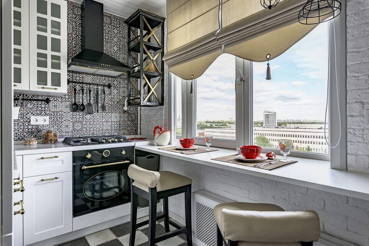 Дизайн кухни 7 квадратов - фото