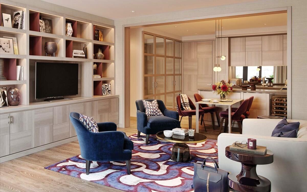 Дизайн однокомнатной квартиры в стиле неоклассика