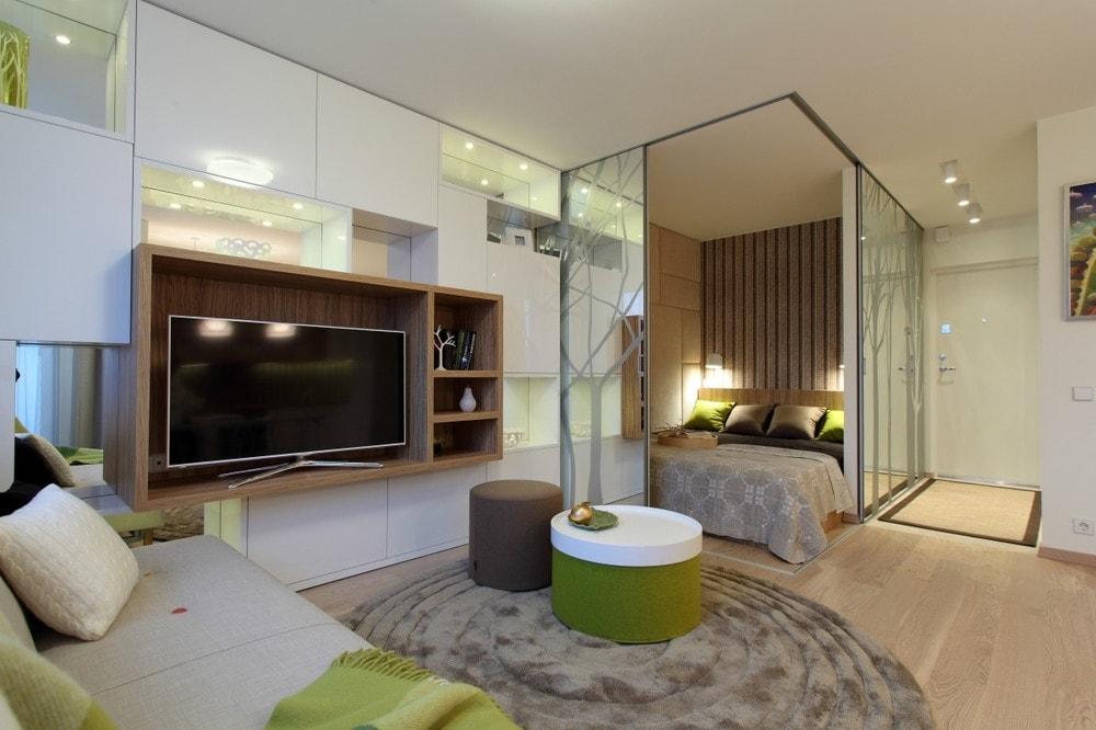 Дизайн однокомнатной квартиры - фото 14