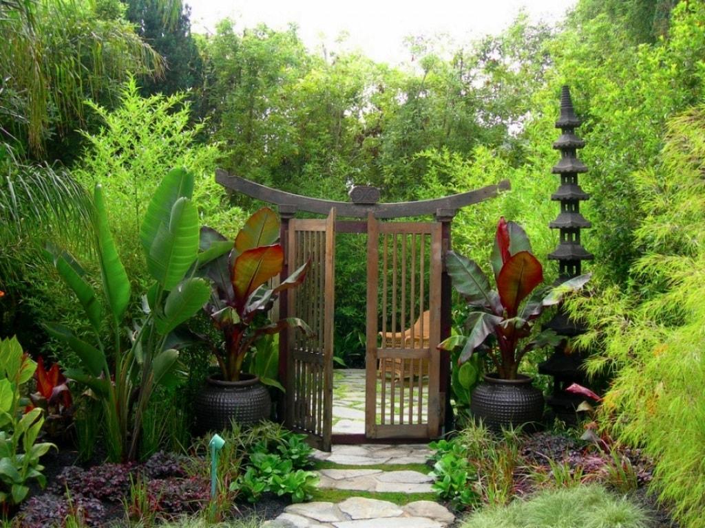 Калитка для сада в японском стиле