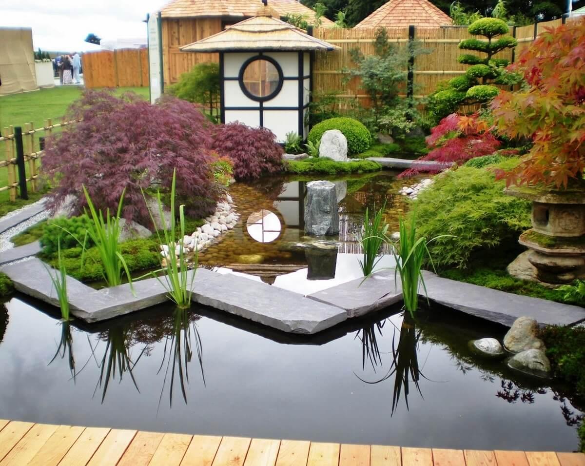 Мостик яцухаси для сада в японском стиле