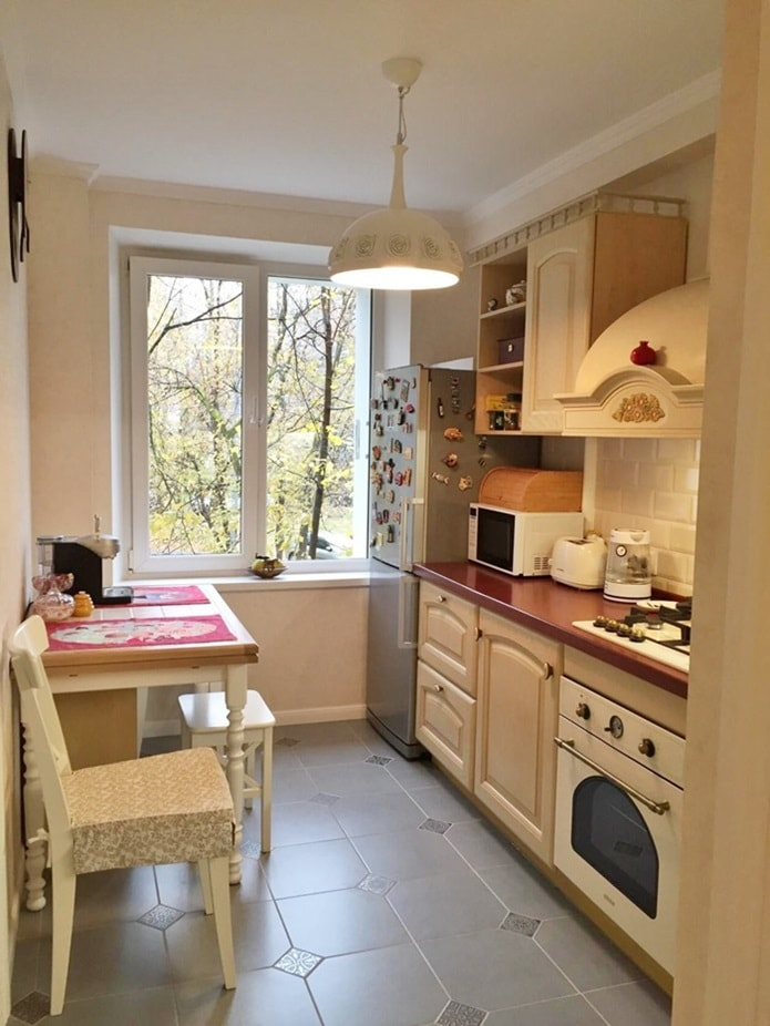 Планировка и дизайн кухни 6 кв.м.