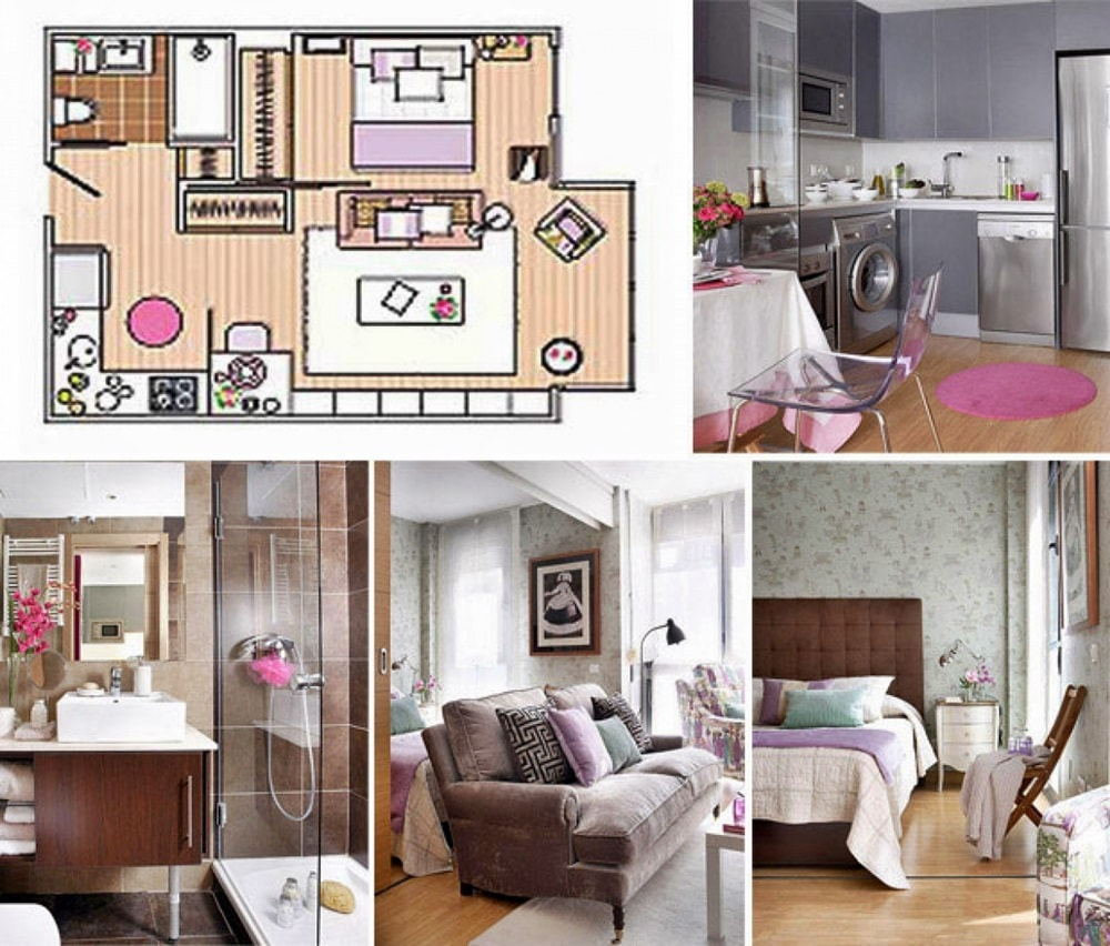 Планировка однокомнатной квартиры - фото 5