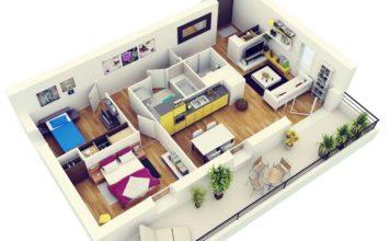 Планировка трехкомнатной квартиры с длинным коридором
