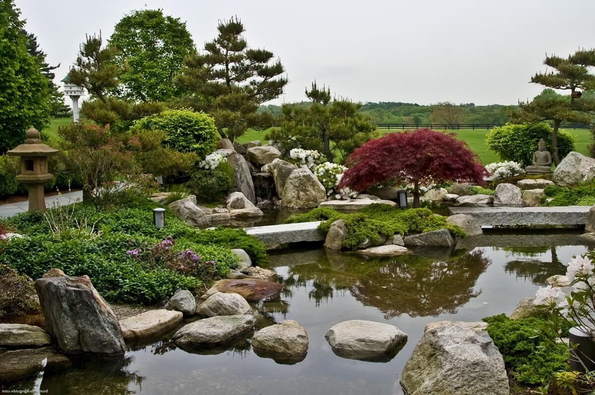 Пруд в японском саду