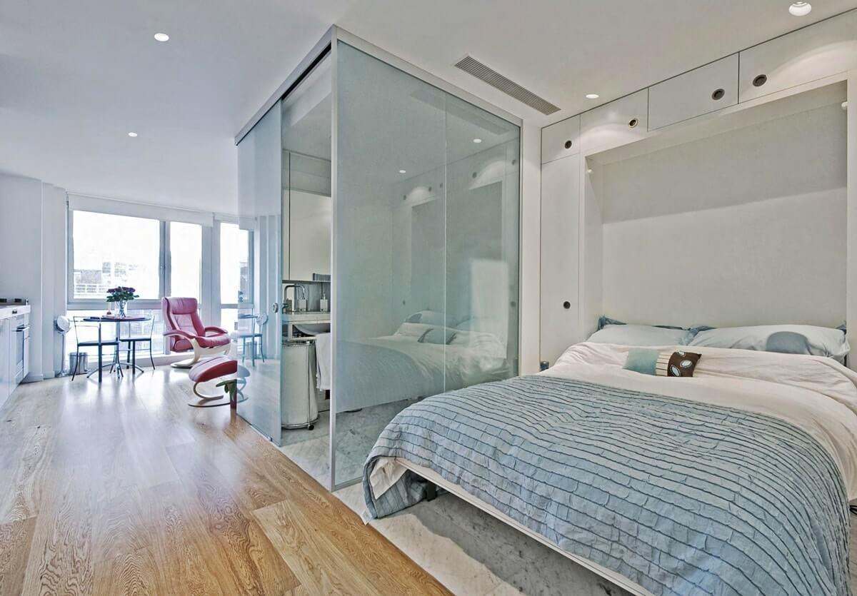 Спальня в гостиной - фото