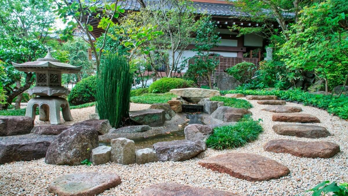 Японский сад — ландшафт сада в японском стиле