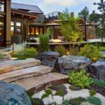 Дизайн придомовой территории в альпийском стиле