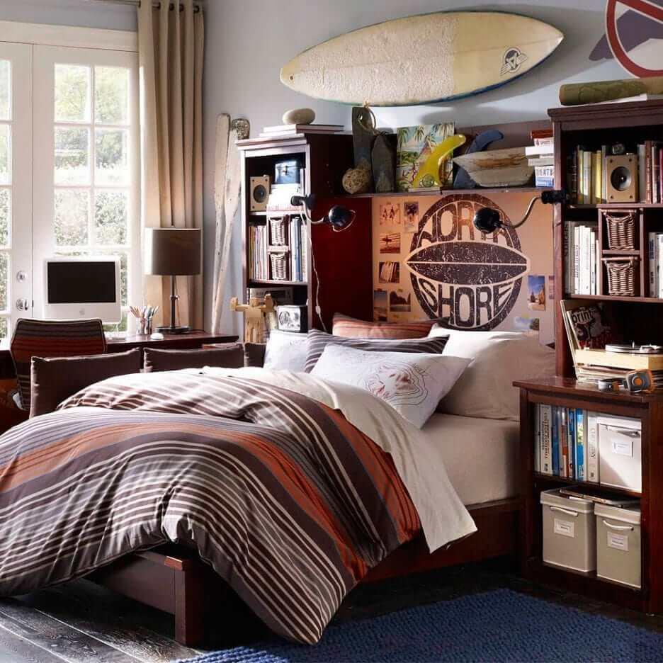 Дизайн комнаты подростка в английском стиле