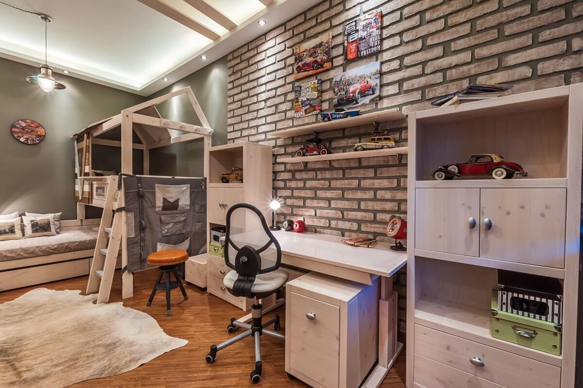 Дизайн комнаты подростка в стиле лофт