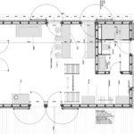 Дом-сарай - план первого этажа
