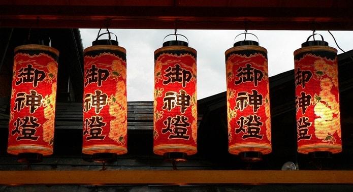 Китайские фонарики для сада