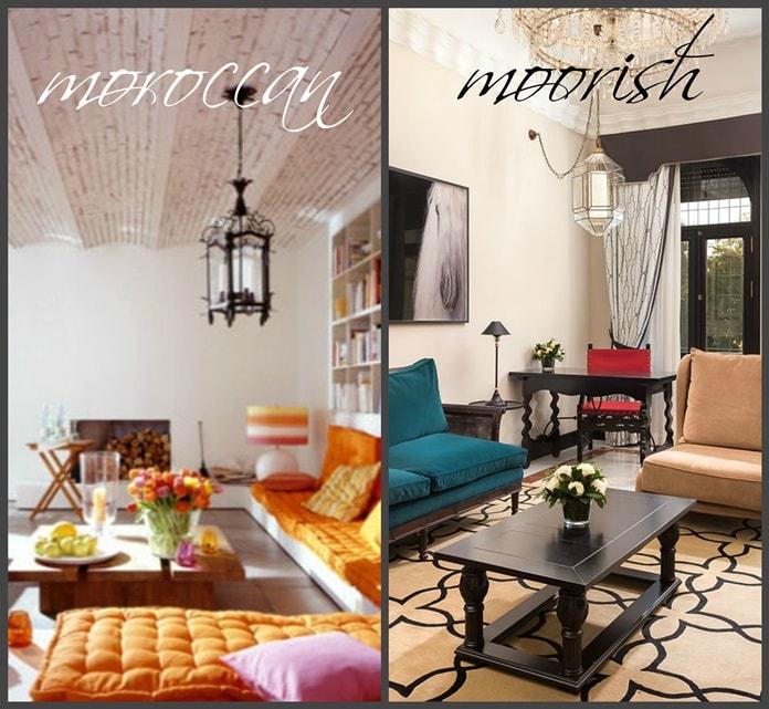Марокканский и мавританский стили