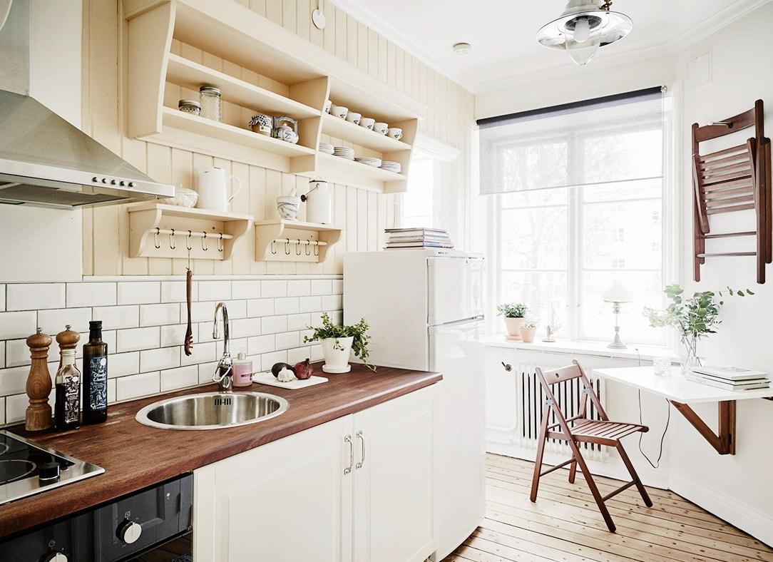 Дизайн кухни в скандинавском стиле - фото