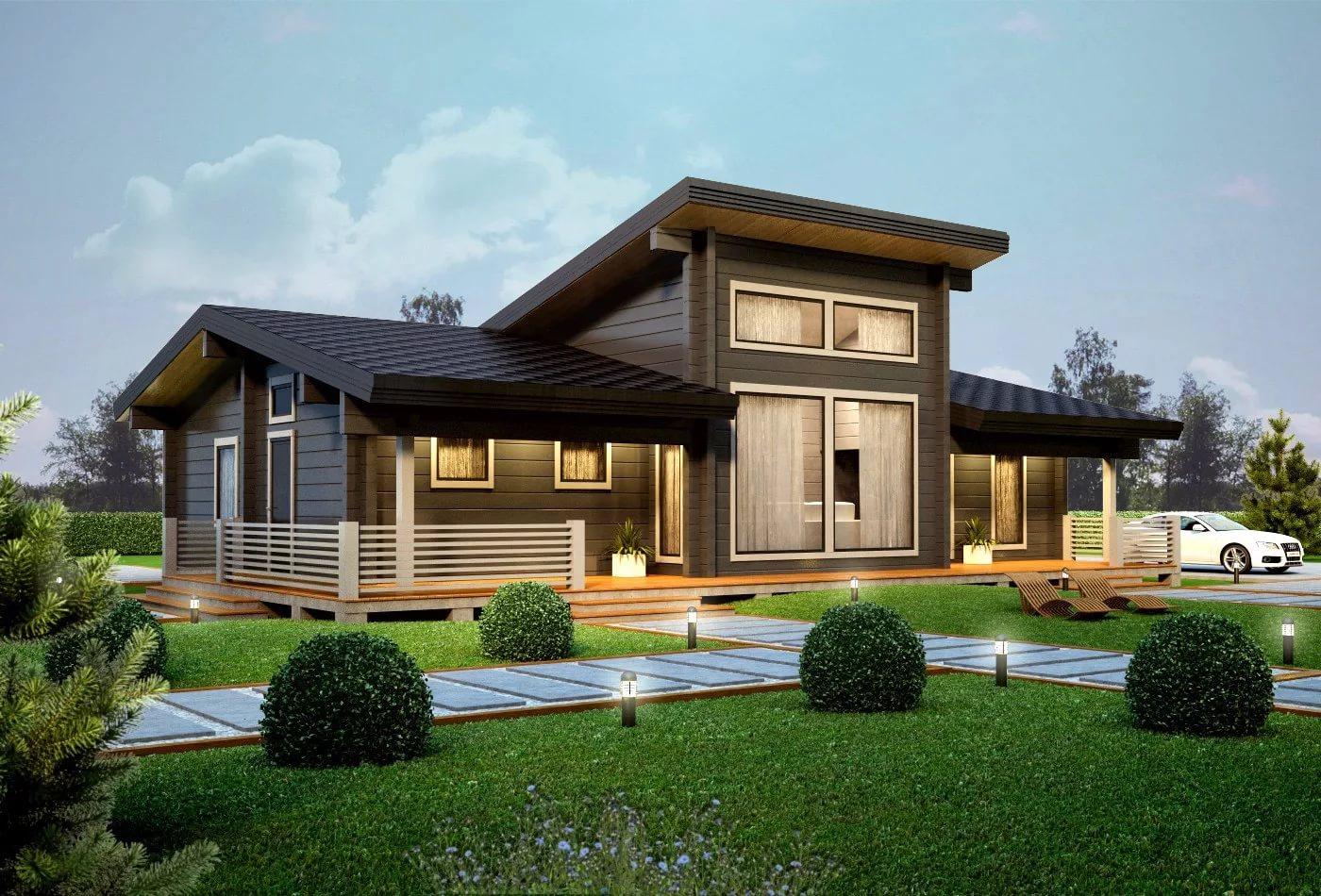 красивые одноэтажные деревянные дома проекты фото писал предложению