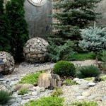 Круглые габионы для сада