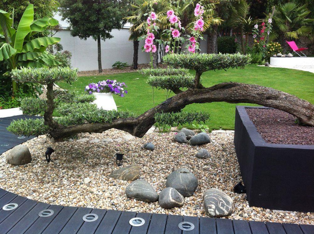Ландшафтный дизайн в стиле хай-тек - цветы
