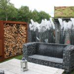 Садовая мебель из габионов - фото