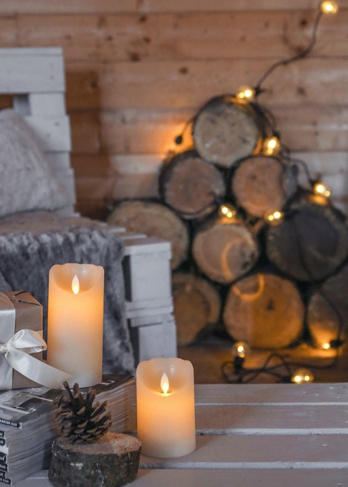 Свечи в датском интерьере