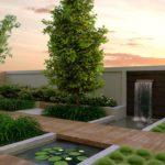 Ландшафтный дизайн в стиле хай-тек, фото