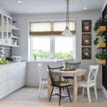 Фартук на кухне в скандинавском стиле - фото