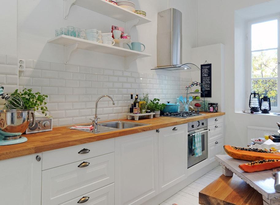 дизайн кухни в скандинавском стиле оформление фото Rehouz