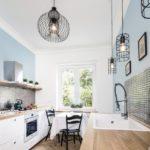 Фартук на кухне в скандинавском стиле - фото (3)
