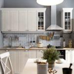 Фартук на кухне в скандинавском стиле - фото (4)