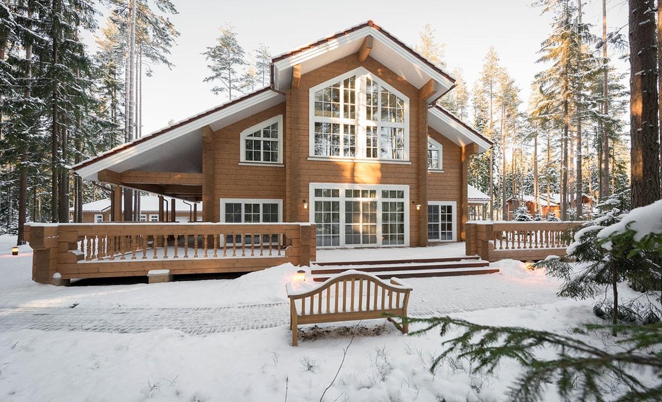 Финский стиль в частной архитектуре