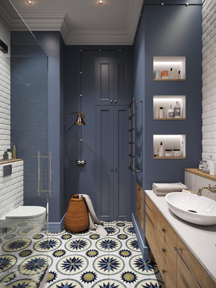 Хюгге в интерьере ванной - фото
