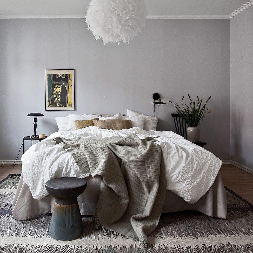 Хюгге в интерьере спальни - фото