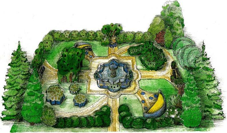 Эскиз мавританского сада