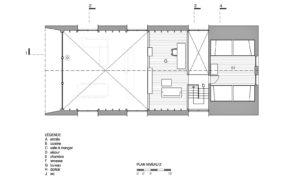 Загородный дом на берегу озера - план мансардного этажа