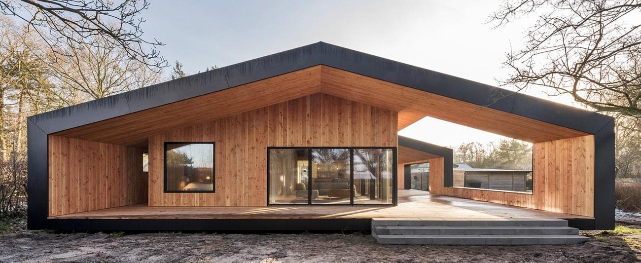 Одноэтажный дом в скандинавском стиле