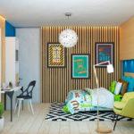 Декоративные рейки на стене в интерьере - фото (11)