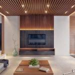 Декоративные рейки на стене в интерьере - фото (12)