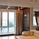 Декоративные рейки на стене в интерьере - фото (14)
