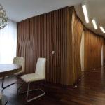 Декоративные рейки на стене в интерьере - фото (17)