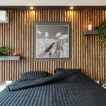 Декоративные рейки на стене в интерьере - фото (19)