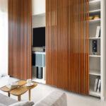 Декоративные рейки на стене в интерьере - фото (2)