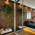 Декоративные рейки на стене в интерьере - фото (20)