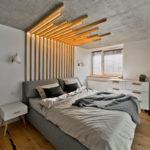 Декоративные рейки на стене в интерьере - фото (22)