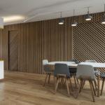 Декоративные рейки на стене в интерьере - фото (24)