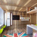 Декоративные рейки на стене в интерьере - фото (3)