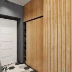 Декоративные рейки на стене в интерьере - фото (6)